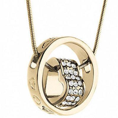 Swarovski Elements Gold Tone Encircled Heart Versatile Necklace