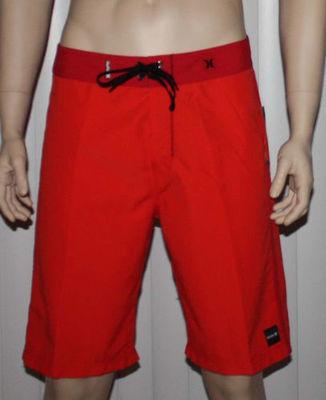 Hurley CHROMATONE Men's Red Swim Board Shorts (Size 34)