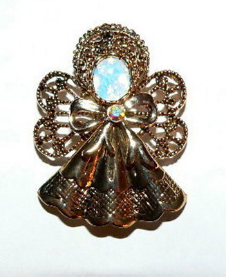 Fashion Jewelry Angel Rhinestone Pin Brooch