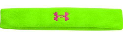 Under Armour Women's Hyper Green/Dark Pink UA Logo Performance Headband (One Size)