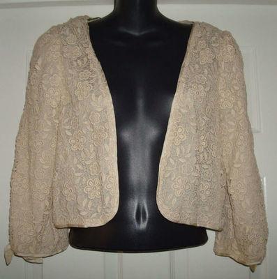 Juicy Couture Women's Floral Lace Blazer Jacket  (Medium)