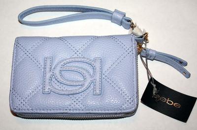 bebe LILY Lilac Zip Around Wrislet Clutch Purse Bag