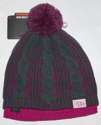Ride Snowboards TWOFER Women's Olive/Magenta Beanie Hat (One Size)