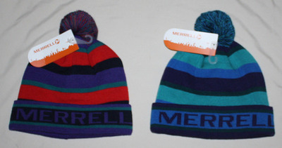 Merrell Men's Kirkham Beanie Hat With Pom Pom (Several Choices)