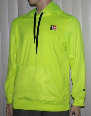 Layer 8 Men's Qwick-Dry Vibrant Lime Hoodie (several sizes)