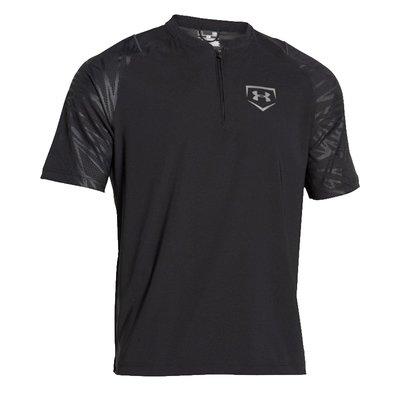 Under Armour Baseball Men's Black/Silver Metallic UA ¼ Zip Shirt (Several Sizes)