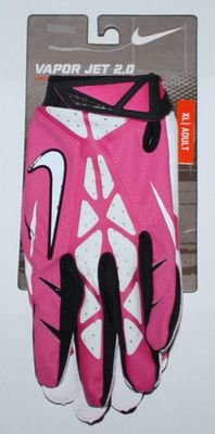 Nike Men's Vapor Jet 2.0 High-Speed Skill Football Gloves -Pink, White XX-Large