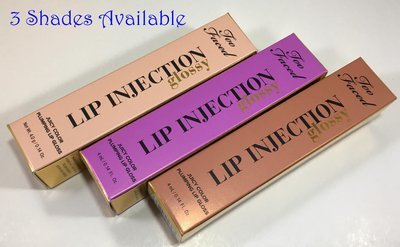 Too Faced Glossy Lip Injection Juicy Color Plumping Lip Gloss 0.14 oz