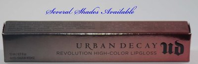 Urban Decay Revolution High-Color Lip Gloss 0.17 oz (Several Shades)