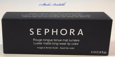Sephora Collection Luster Matte Long-Wear Lip Color 0.14 oz -Shade Choices