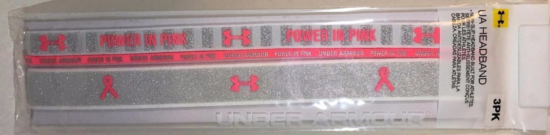 3 Pk Under Armour PIP Lurex Silver Shimmer/White/Pinkadelic UA (One Size)