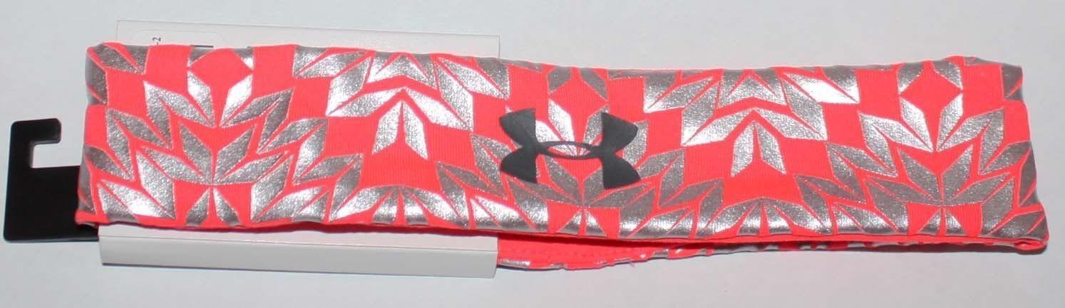 Under Armour Girls After Burn/Chrome/Black UA Foil Print Headband (One Size)