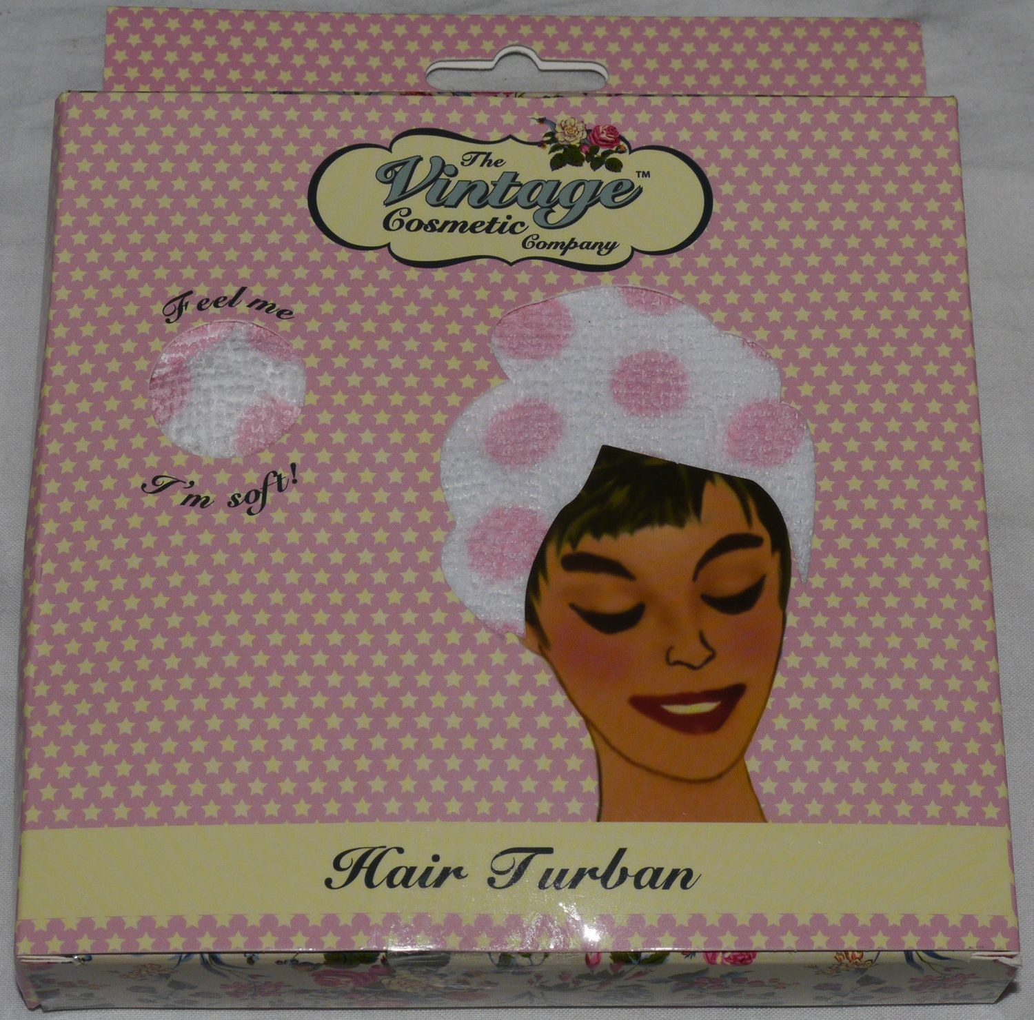 The Vintage Cosmetic Company Pink/White Polka Dots Hair Turban