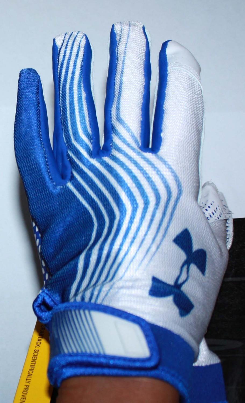 Under Armour UA Blur II Men's Skill Football Gloves -Blue (XX-Large)