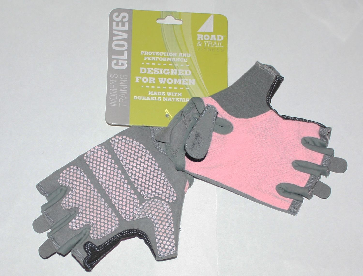 Road & Trail Fitness Women's Pink/Gray Training Gloves (Several Sizes)
