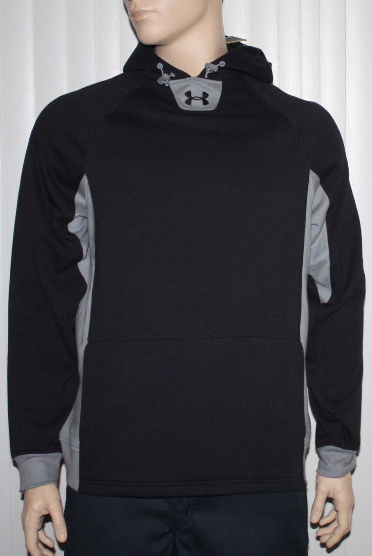 Under Armour UA TEAM Storm Men's Black/Gray/Black UA Pullover Hoodie (Medium)
