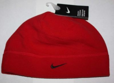 Nike Arctic Adult Unisex Fleece Beanie Hat -Red (One Size)