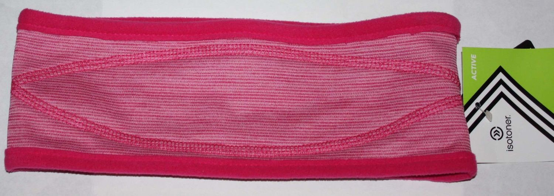 Isotoner Active Women's Magenta/Magenta White Striped Fleece Headband (One Size)