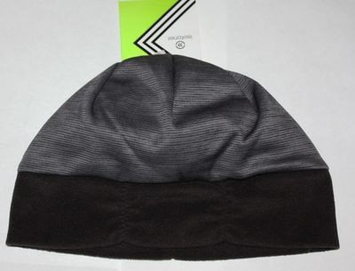 Isotoner Active Women's Black/Gray Striped Fleece Band Beanie (One Size)