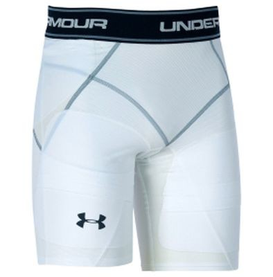 Under Armour Men's White Coreshort Reverse Compression Football Girdle (Small)