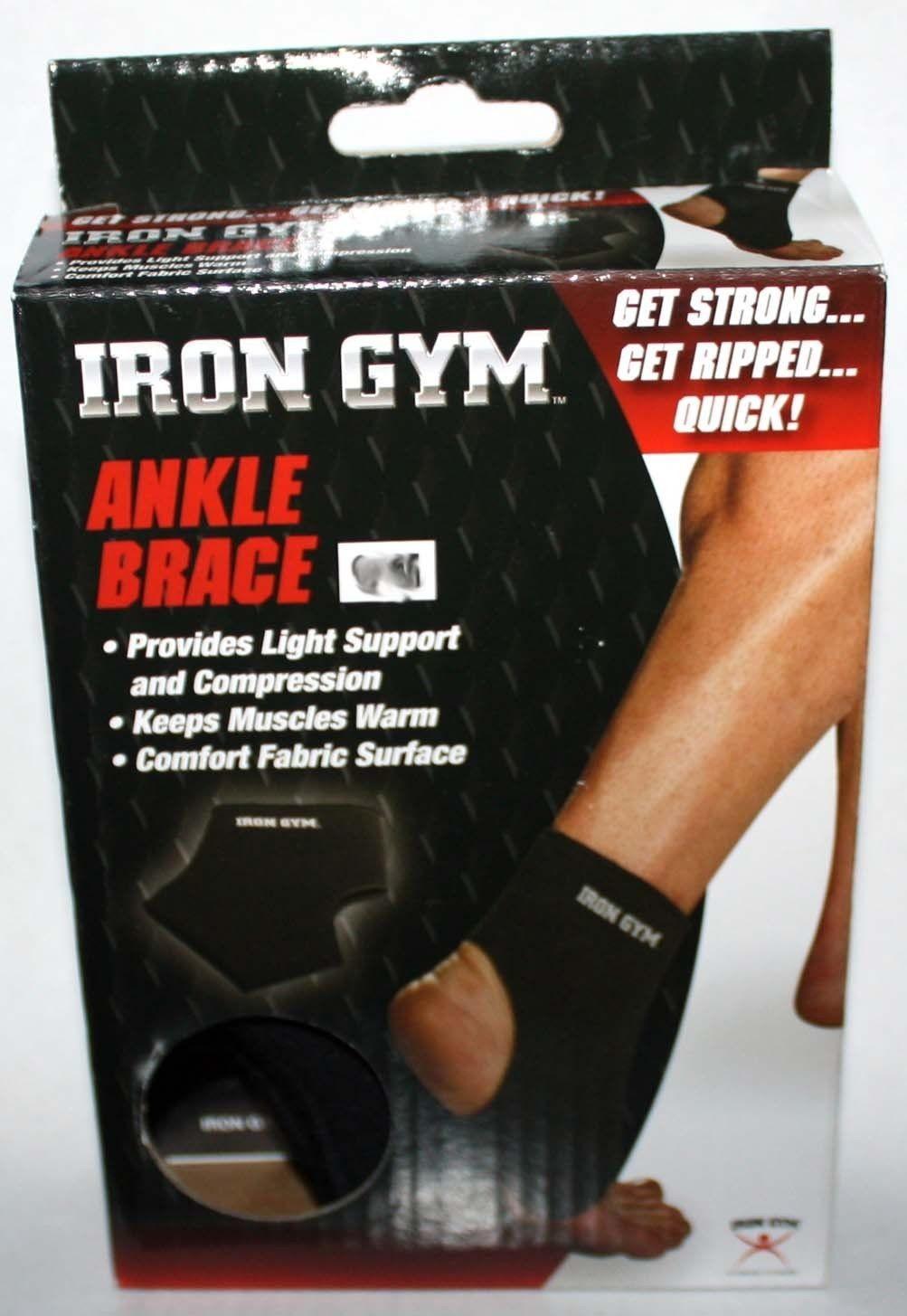 Iron Gym Unisex Black Light Compression Ankle Brace (Several Sizes)