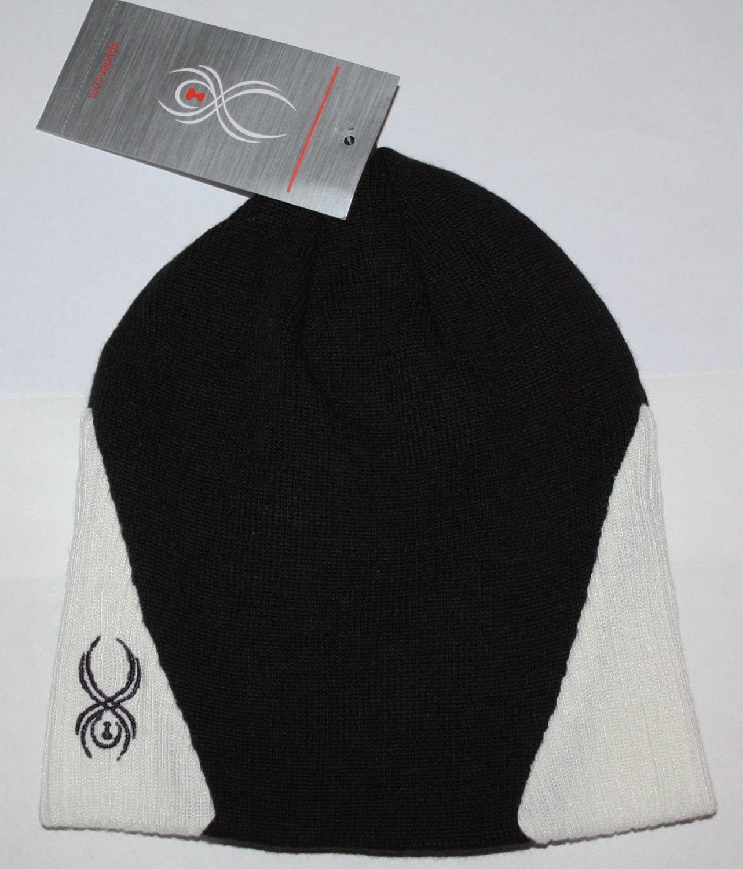 Spyder RIB INSET Women's Two-Tone Black/White Beanie (One Size)