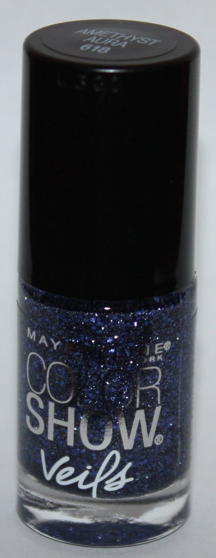 Maybelline New York Color Show Veils Nail Polish Top Coat #618 Amethyst Aura  .23 oz