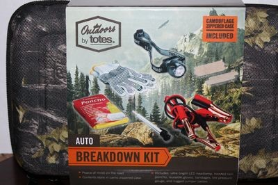 Outdoors By Totes 6 Piece Auto Breakdown Kit In Camo Zippered Case