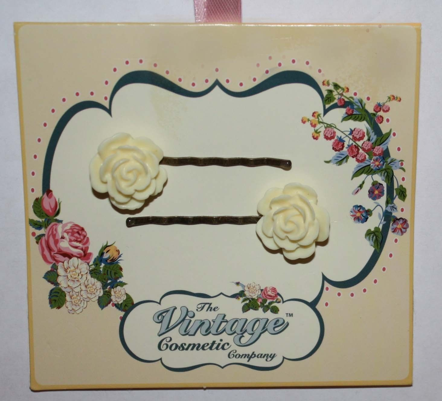 The Vintage Cosmetic Women's 1 Set Yellow Rose Bobby Pins