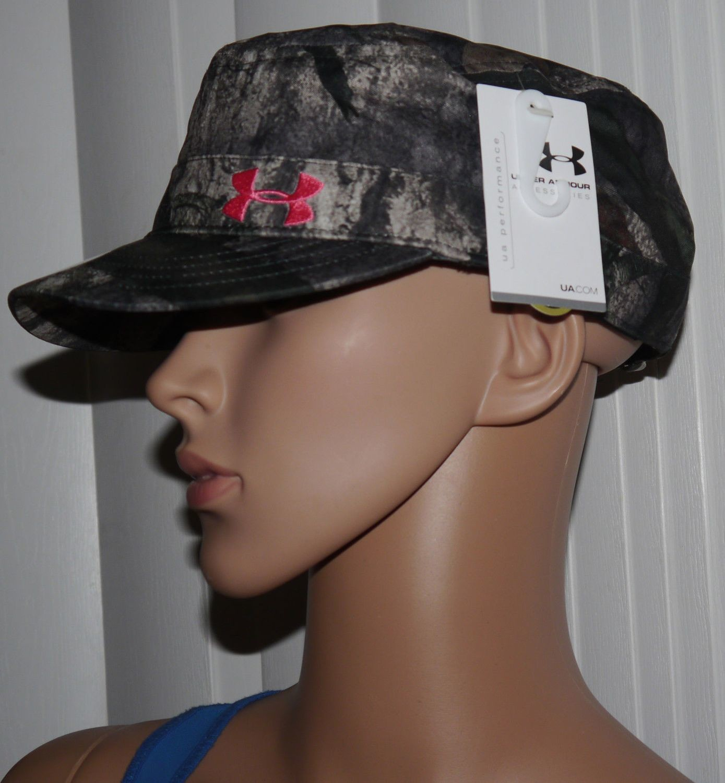 Under Armour Women's Mossy Oak/Pinkadelic UA Adjustable Military Hat Cap