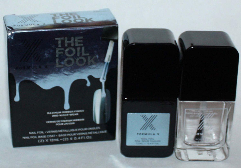 Formula X Limited Edition THE FOIL LOOK Foil Nail Polish & Base Coat ARCTIC