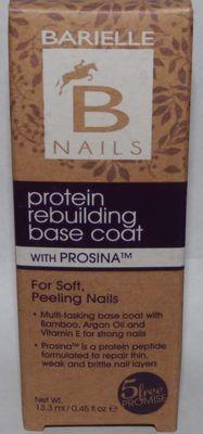 Barielle Protein Rebuilding Base Coat With Prosina - Soft/Peeling Nails .45 oz