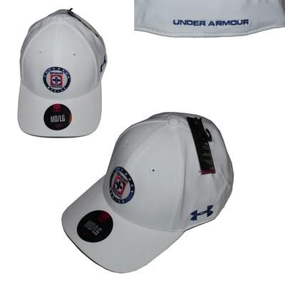 Under Armour Men's White/Blue/Red Deportivo Cruzazue Mexico Cap Hat (Medium/Large)