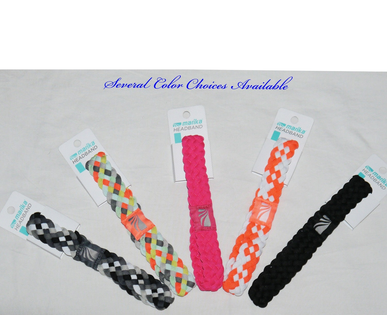 "Marika Women's 1 ¼"" Braided No-Slip Grip Headband (Several Colors)"