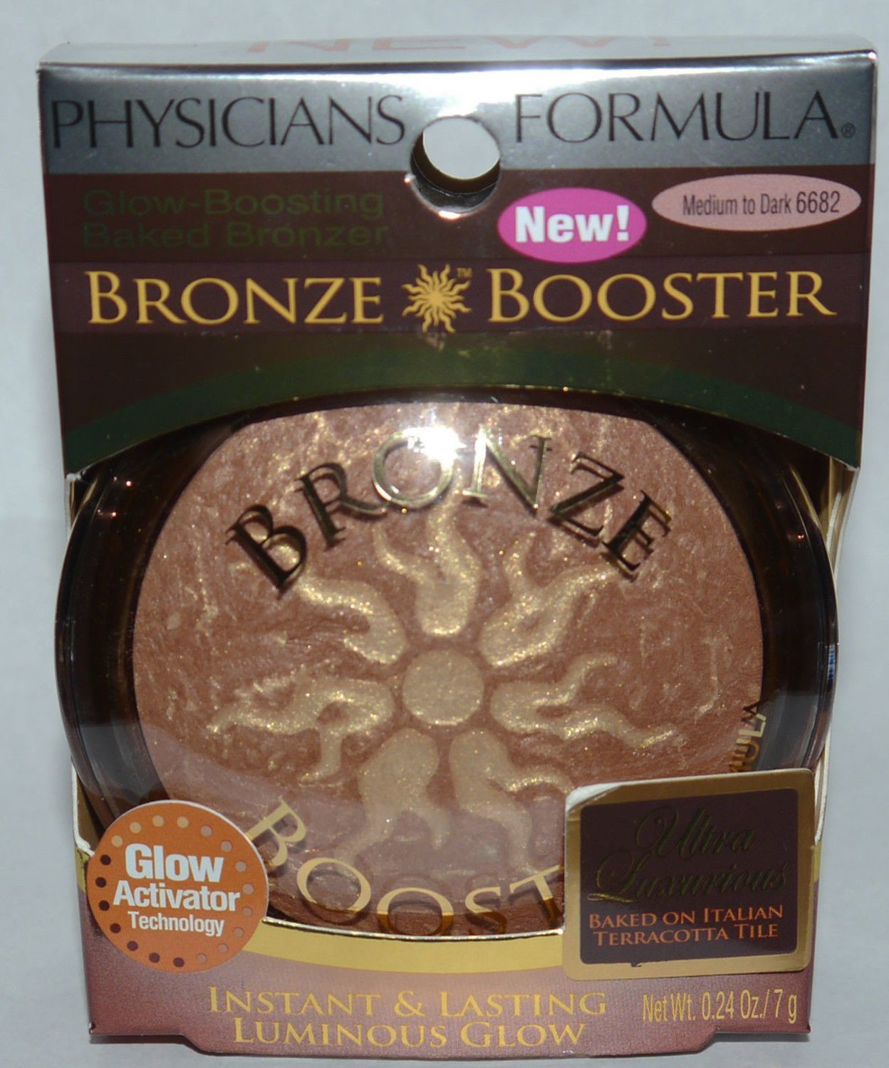 Physicians Formula Bronze Booster Glow Boosting Baked Bronzer #6682 Medium/Dark