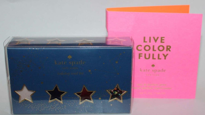 Kate Spade Holiday Mini Nail Kit + Live Color Fully Eau De Parfum Spray Sample