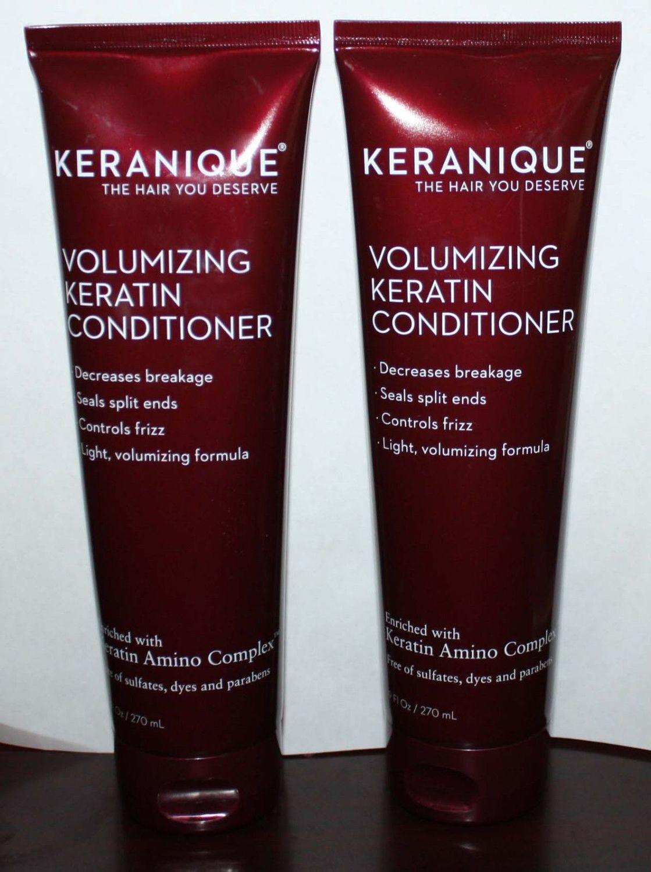 Lot of 2 Keranique Volumizing Keratin Conditioner 9 oz Each