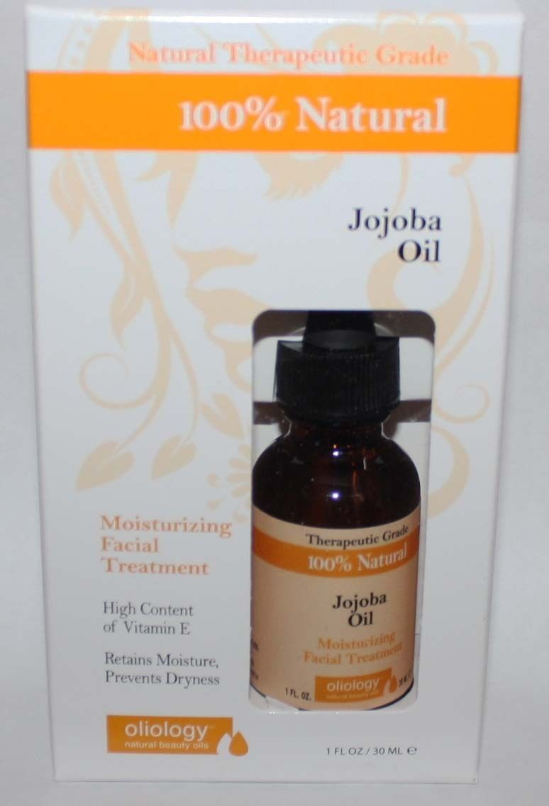 Oliology 100% Natural Jojoba Oil Moisturizing Facial Treatment 1 oz