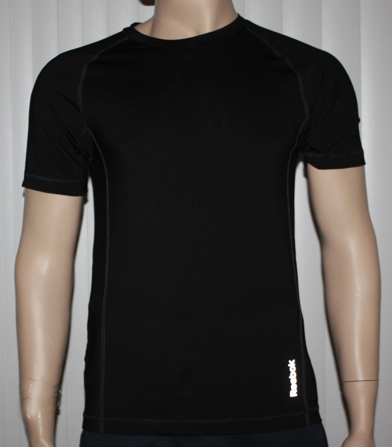 Reebok SPORT Men's Black Compression Shirt Top (Several Sizes)