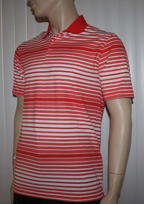 Nike Golf Tour Performance Men's Crimson/White Stripe Polo Shirt (Medium)
