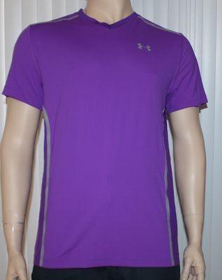 Under Armour VENT UA HeatGear Men's Purple Pride Fitted Shirt -Large