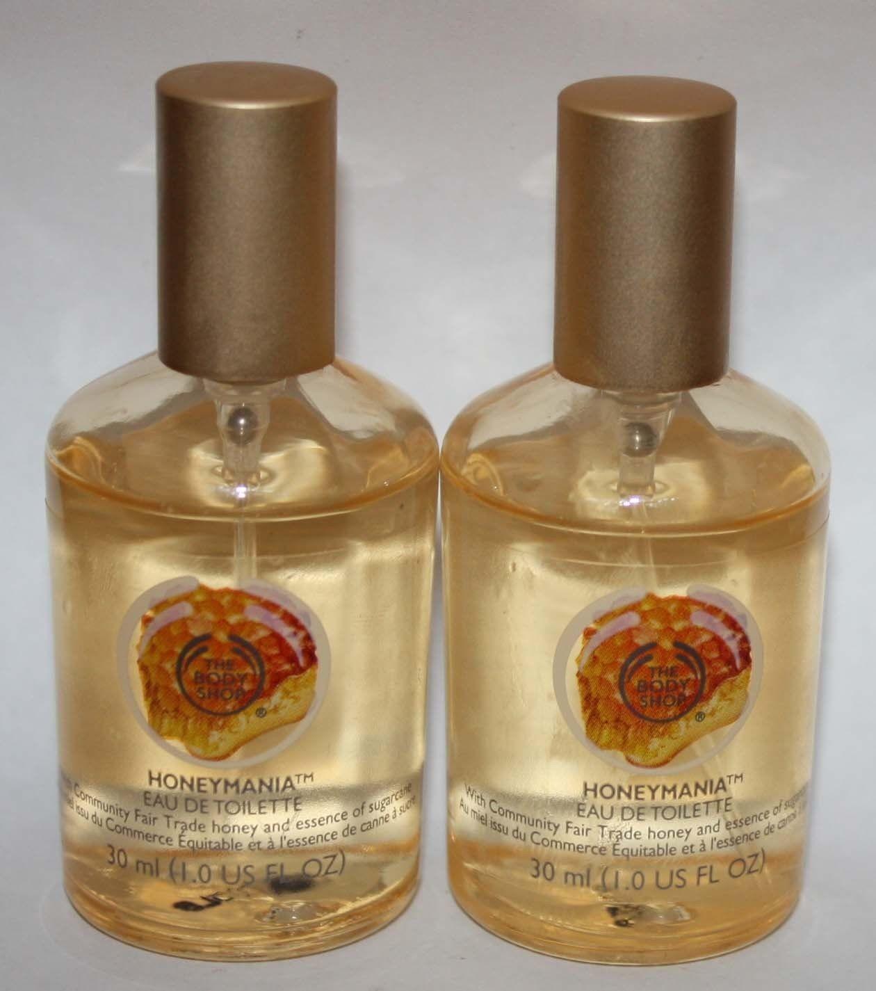 Lot of 2 The Body Shop Women's Honeymania Eau De Toilette Spray 1 oz Each