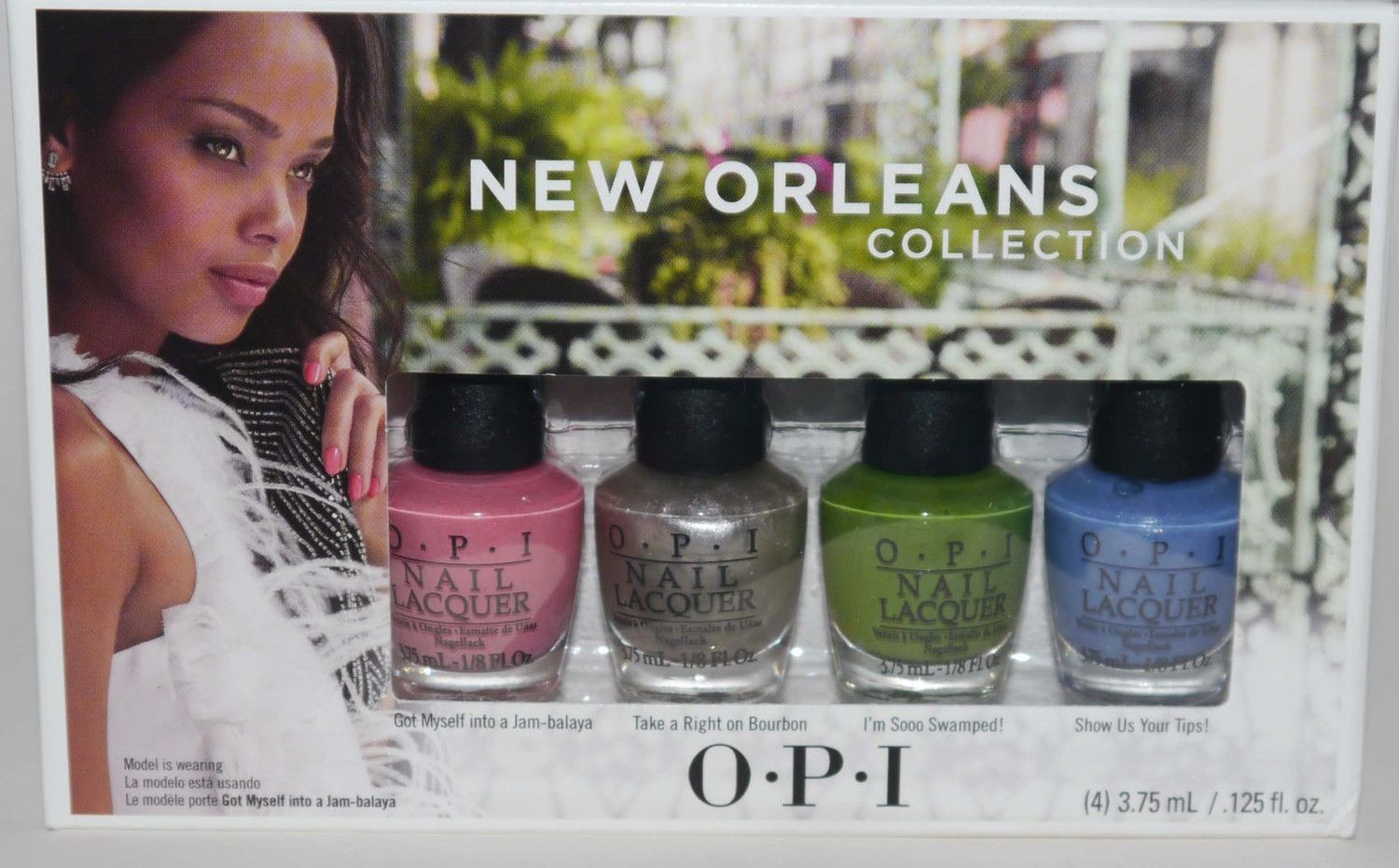4 OPI MINI Nail Polishes Lacquers JAMBALAYETTES New Orleans Collection 1/8 oz Each