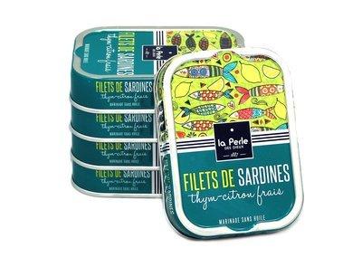 La Perle des Dieux Sardines Citron Thym