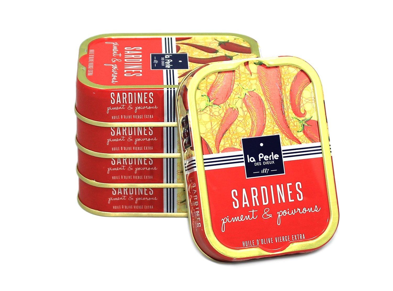 La Perle des Dieux Sardines Piment & Poivrons