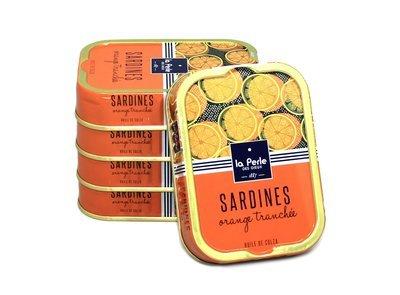 La Perle des Dieux Sardines Orange Tranchée