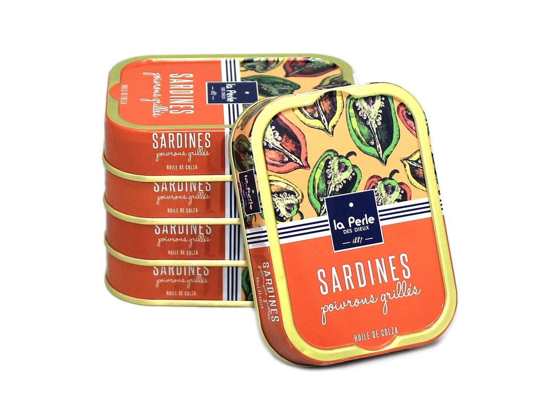 La Perle des Dieux Sardines Poivrons Grillés