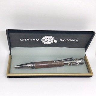 Clements Chrome Pen in Walnut
