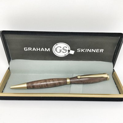 Bailey Brushed Gold Pen in Exotic Bocote