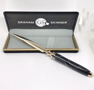 Double Great Letter Opener in Black